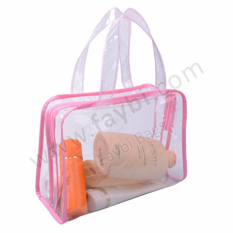 Clear Vinyl Makeup Bag Style Guru Fashion Glitz